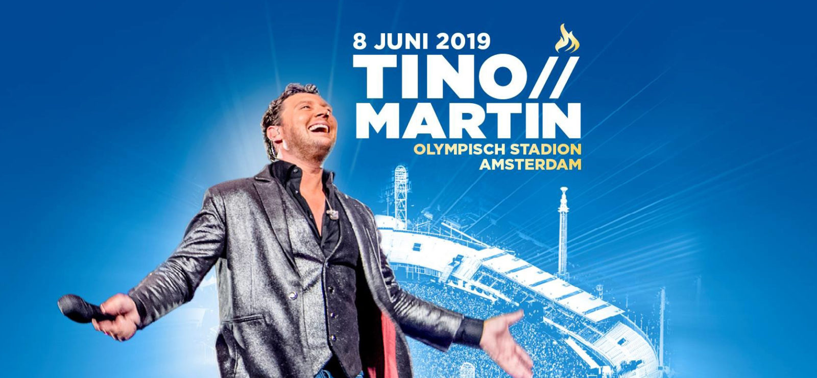 Tino Martin in het Olympisch Stadion